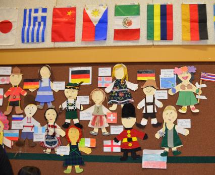 Çocuklar ve bayraklar